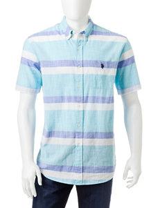U.S. Polo Assn. Dark Blue Casual Button Down Shirts