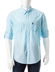 U.S. Polo Assn. Dark Blue Casual Button Down Shirts