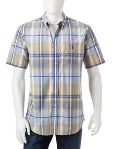 U.S. Polo Assn. Yellow Casual Button Down Shirts