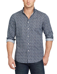 Chaps Newton Navy Casual Button Down Shirts