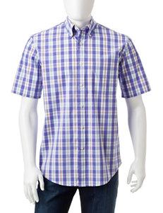 Sun River Purple Casual Button Down Shirts