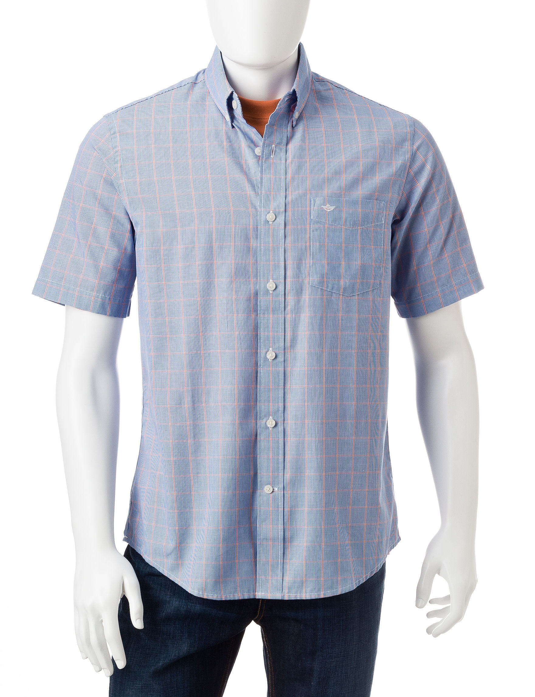 Dockers Blue Casual Button Down Shirts
