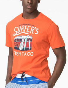 Chaps Orange Tees & Tanks