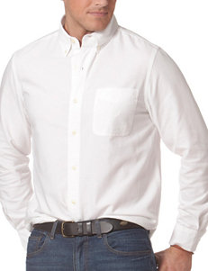 Chaps White Casual Button Down Shirts