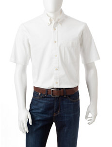 Sun River White Casual Button Down Shirts