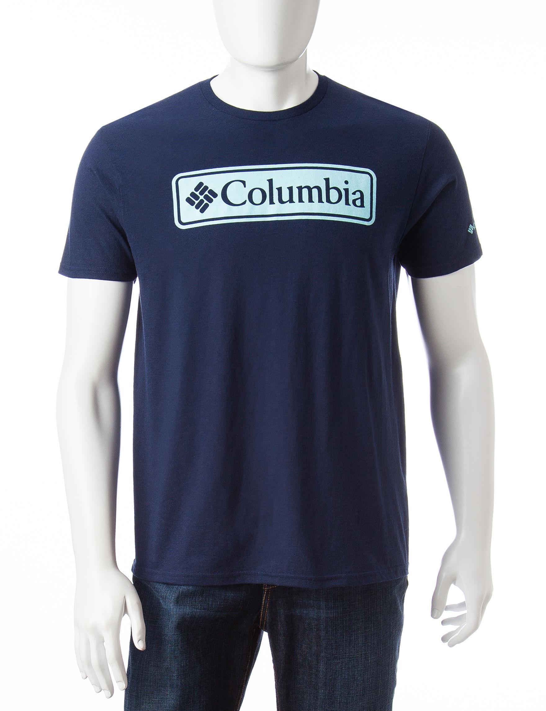 Columbia Navy Tees & Tanks