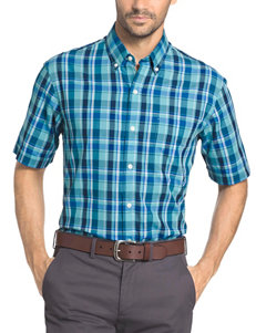 Arrow Aqua Casual Button Down Shirts