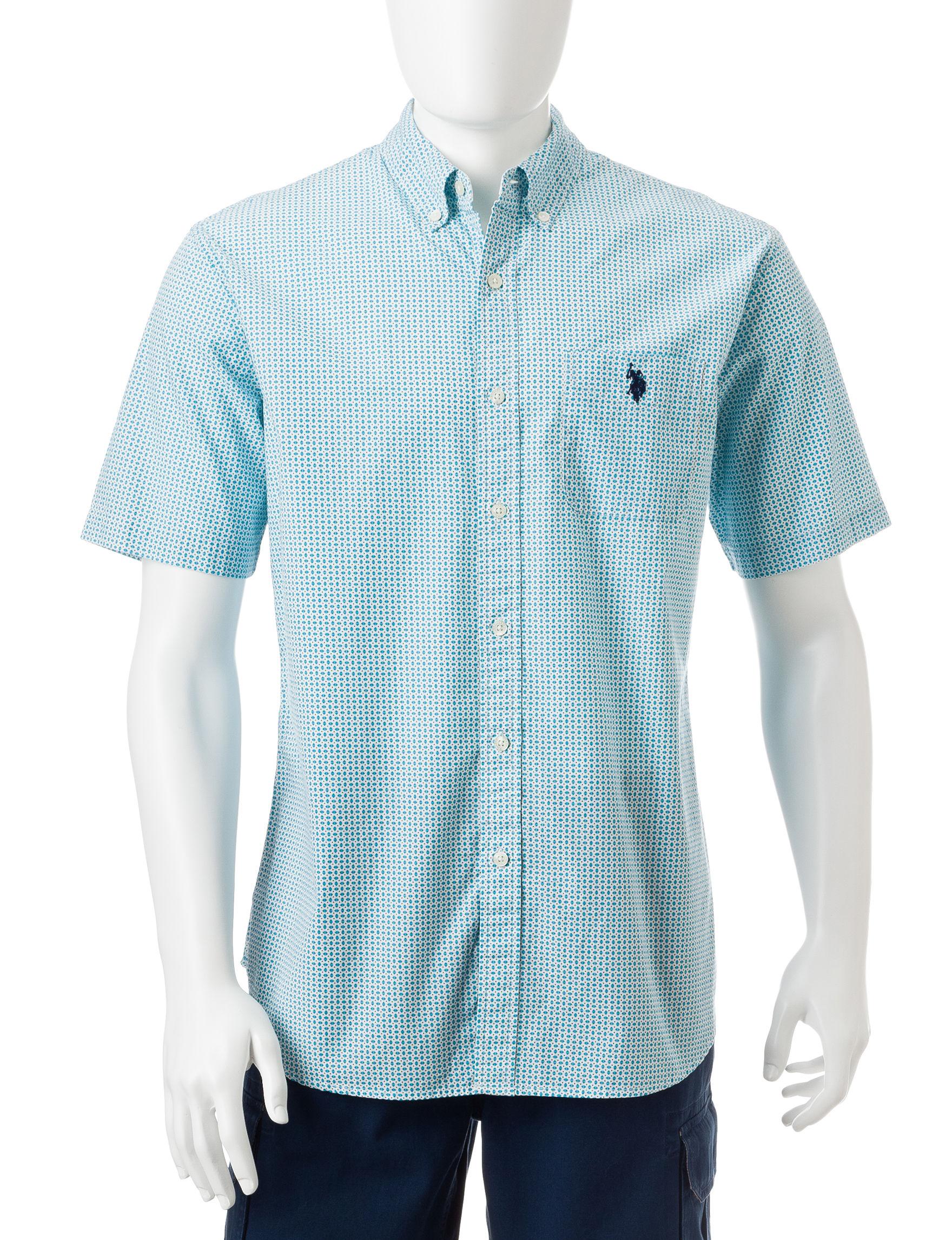U.S. Polo Assn. Blue Casual Button Down Shirts