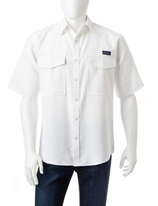 Realtree White Casual Button Down Shirts