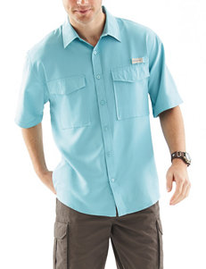 Realtree Light Blue Casual Button Down Shirts