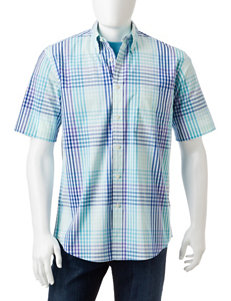Sun River City Blue Casual Button Down Shirts