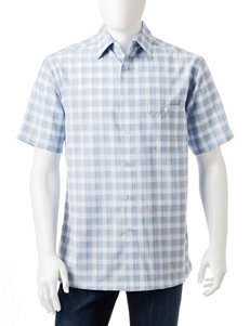 Haggar White Casual Button Down Shirts