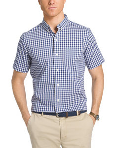 Izod Dark Blue Casual Button Down Shirts