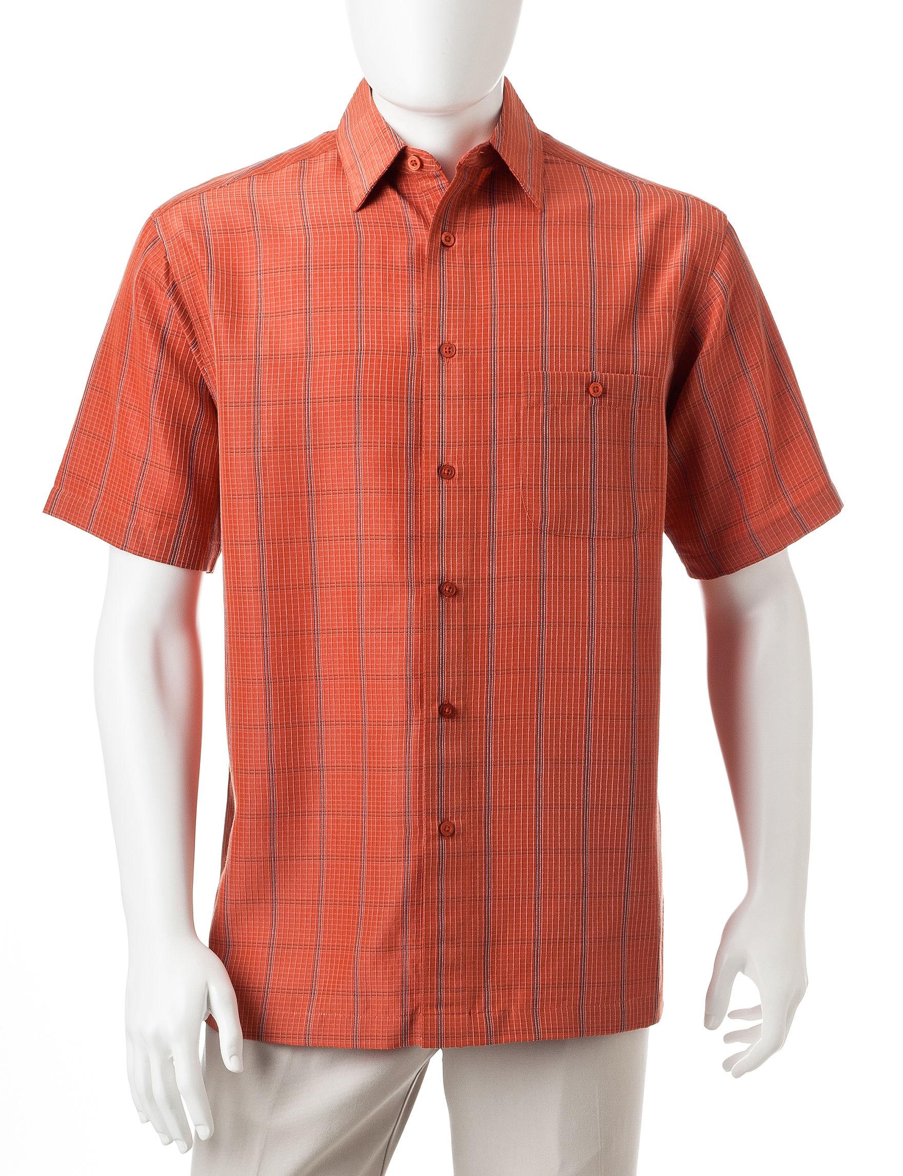 Haggar Ginger Casual Button Down Shirts