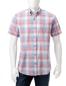 Weatherproof Red Casual Button Down Shirts