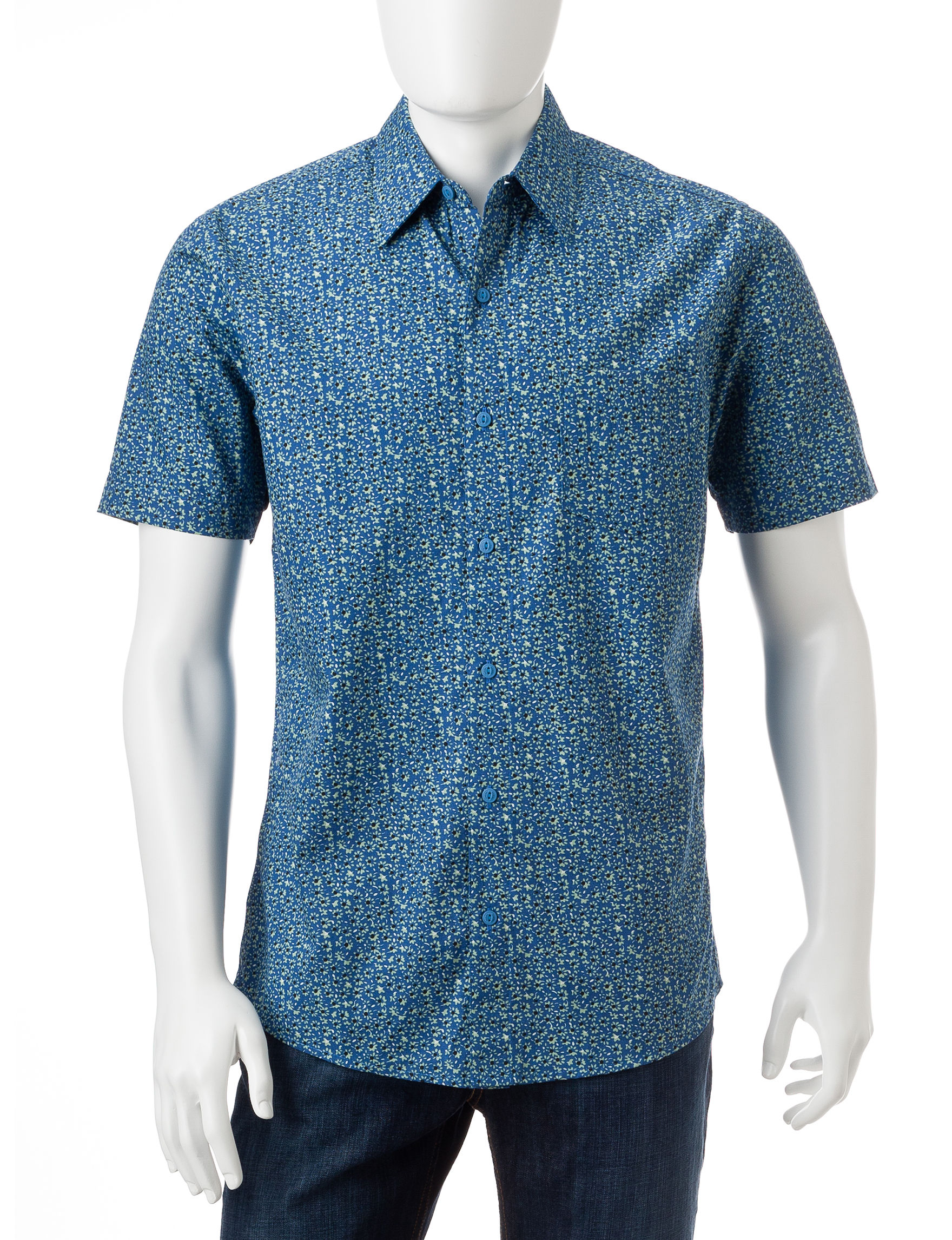 Haggar Blueberry Acai Casual Button Down Shirts