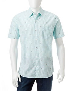 Haggar Aqua Casual Button Down Shirts
