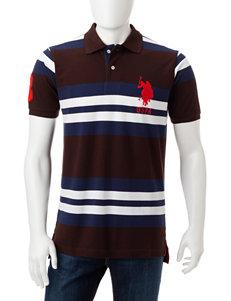 U.S. Polo Assn. Brown Polos