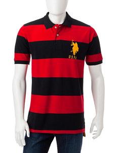 U.S. Polo Assn. Black / Red Polos