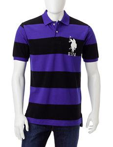 U.S. Polo Assn. Purple / Black Polos
