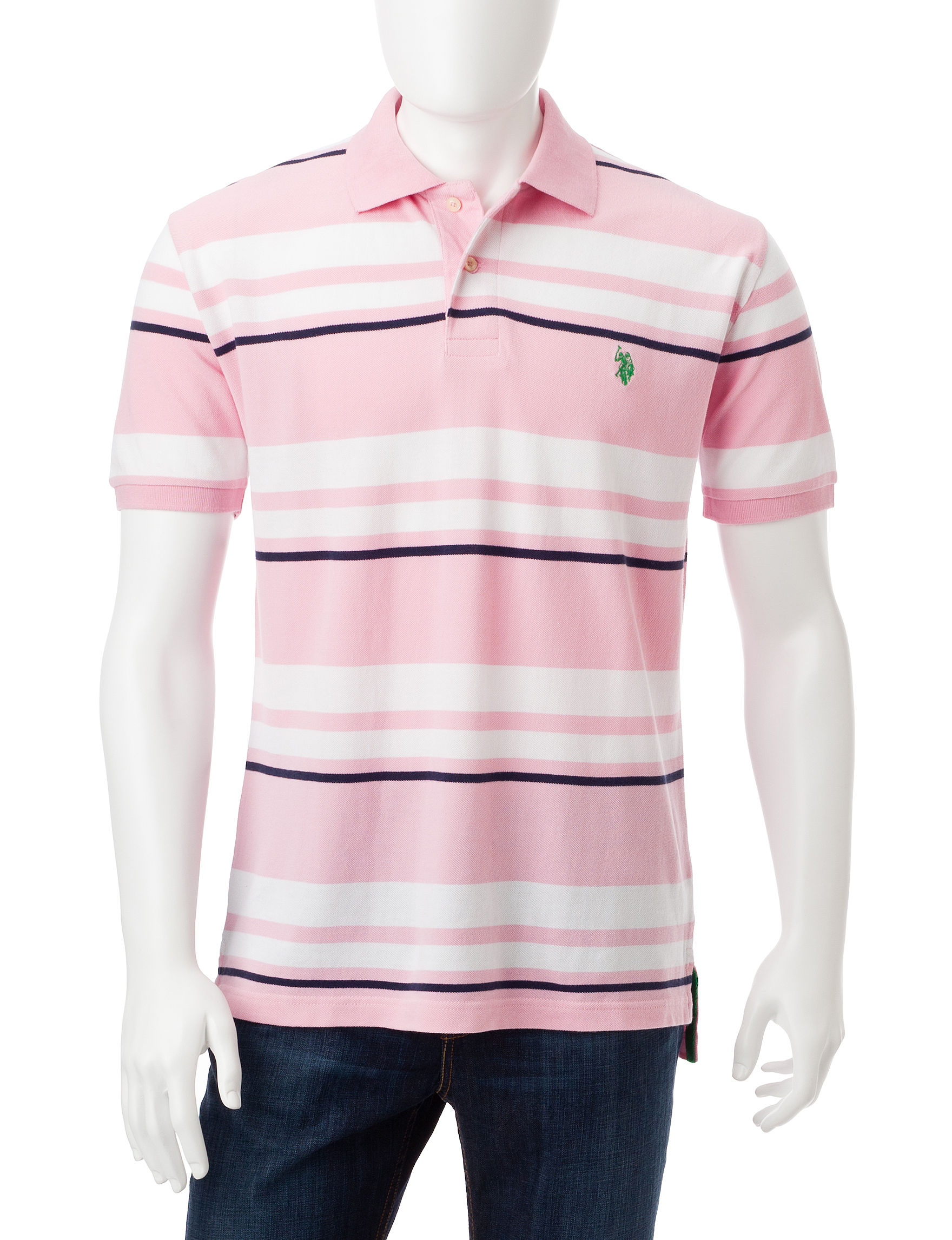 U.S. Polo Assn. Pink Polos