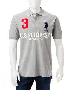U.S. Polo Assn. Grey Polos