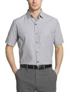 Van Heusen Grey Mirage Casual Button Down Shirts