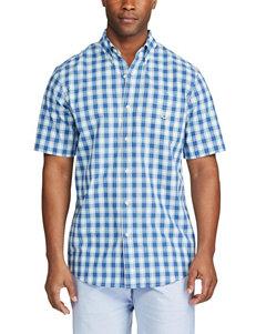 Chaps Medium Plaid Woven Button Front Shirt