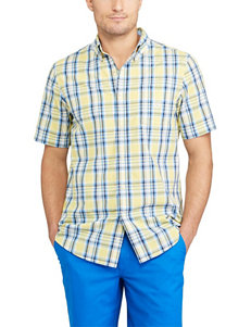 Chaps Yellow Casual Button Down Shirts