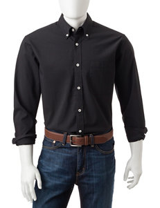 Sun River Black Casual Button Down Shirts