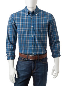 Sun River Blue Casual Button Down Shirts