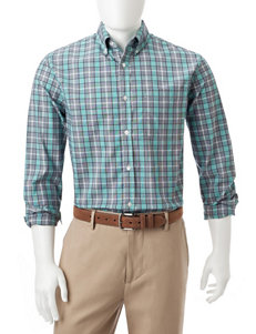 Sun River Green Casual Button Down Shirts