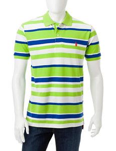 Closeout! U.S. Polo Assn. Striped Print Polo Shirt