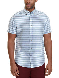 Nautica Aqua Casual Button Down Shirts