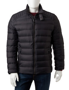 Michael Kors Black Puffer & Quilted Jackets