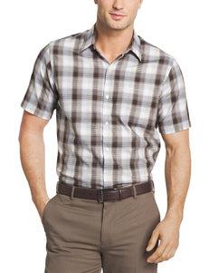Van Heusen Textured Plaid Print Woven Shirt