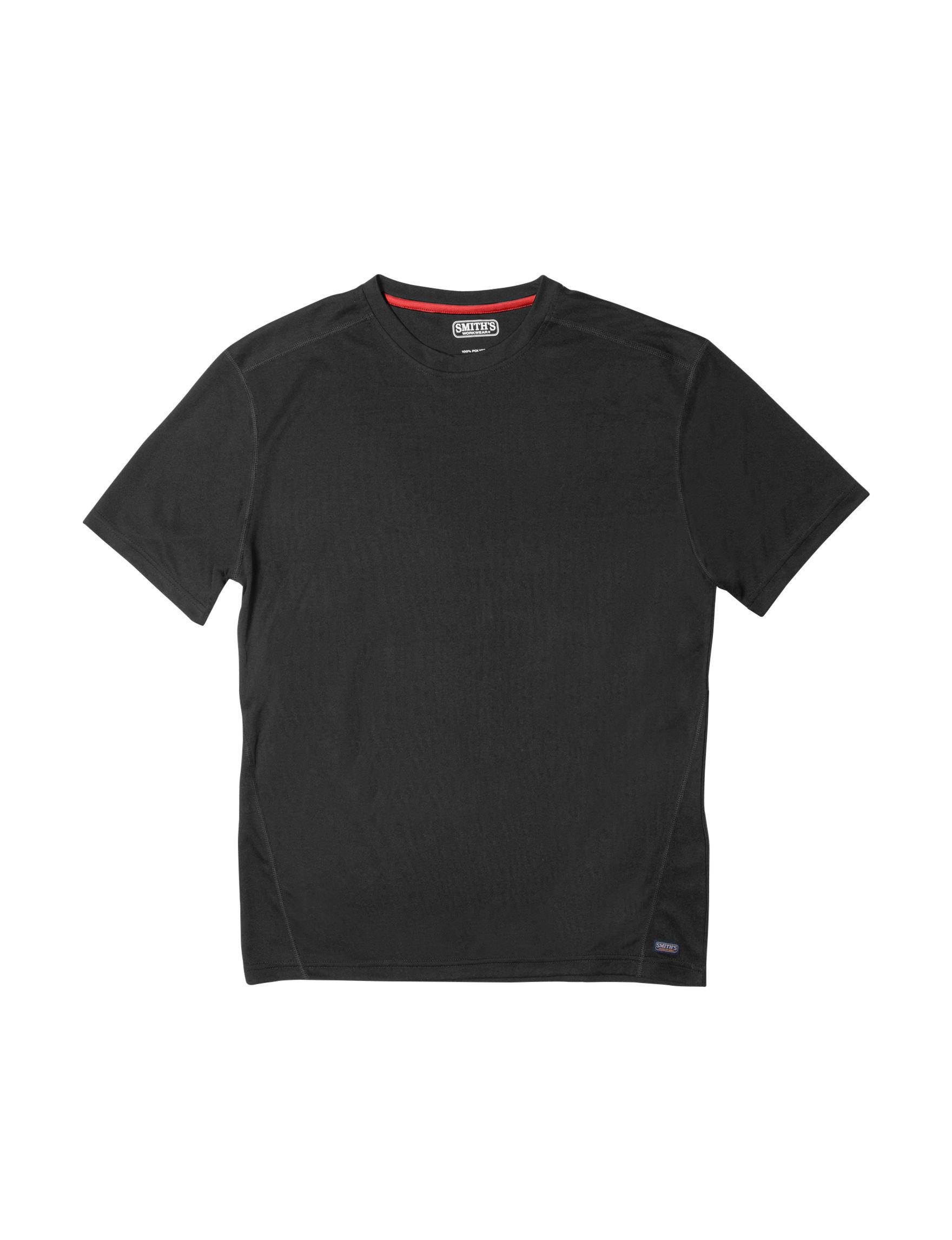 Smith's Workwear Black / Red Tees & Tanks