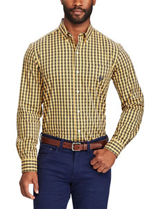 Chaps Light Gold Casual Button Down Shirts