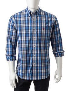 U.S. Polo Assn. Navy Casual Button Down Shirts Classic
