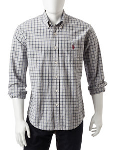 U.S. Polo Assn. Grey Casual Button Down Shirts Classic