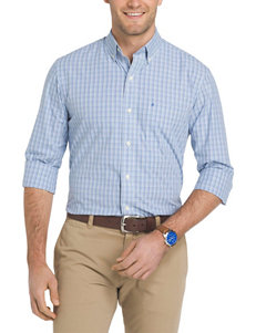 Izod Blue Revival Casual Button Down Shirts