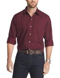 Van Heusen Red Casual Button Down Shirts