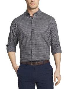 Van Heusen Grey Casual Button Down Shirts