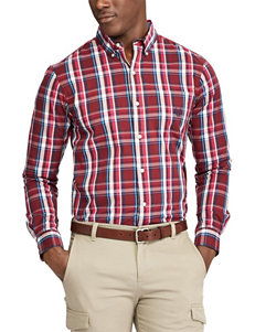 Chaps Big & Tall Plaid Button Front Shirt