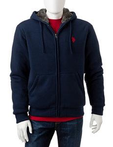 U.S. Polo Assn. Navy Fleece & Soft Shell Jackets