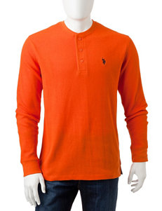 U.S. Polo Assn. Orange Henleys