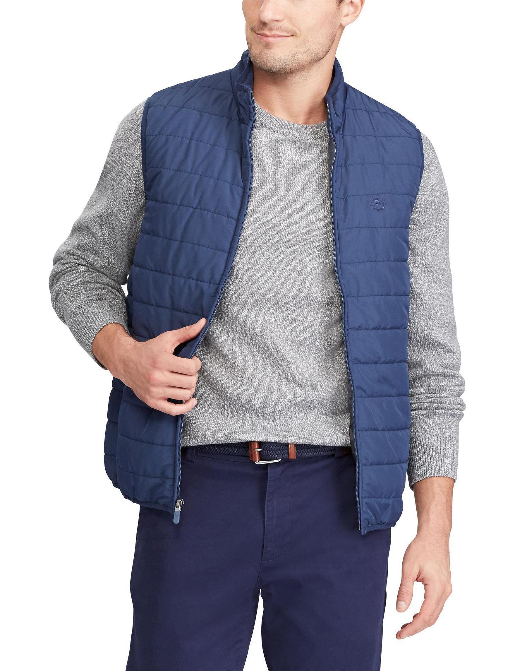 Chaps Navy Vests