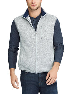 Chaps Light Grey Heather Sweaters Vests