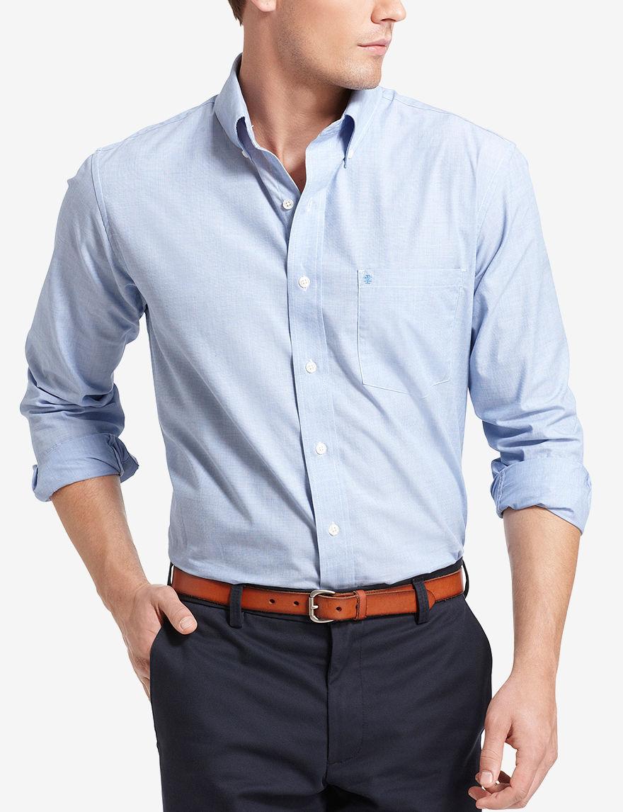 Izod Blue Casual Button Down Shirts