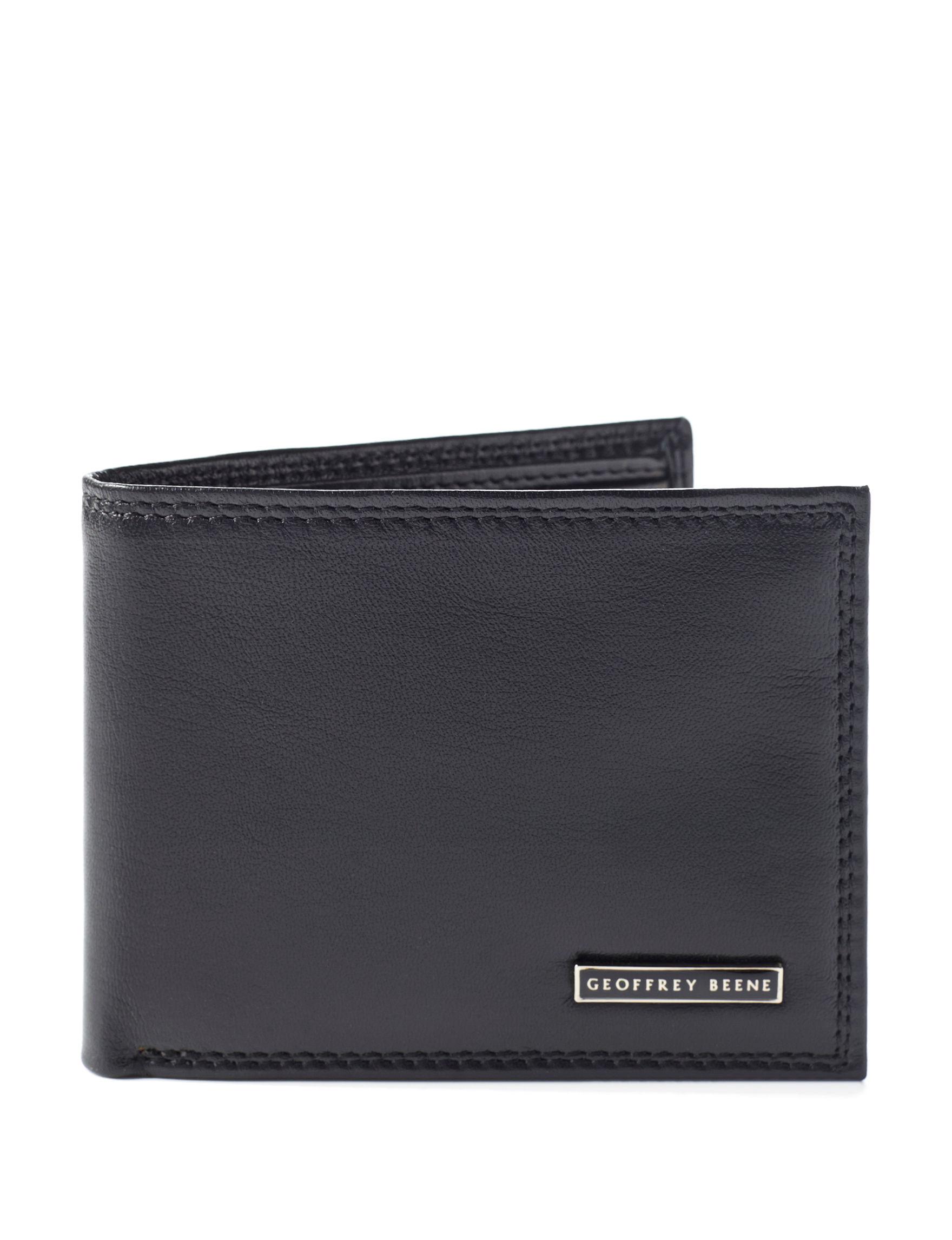 Geoffrey Beene Black Bi-fold Wallets